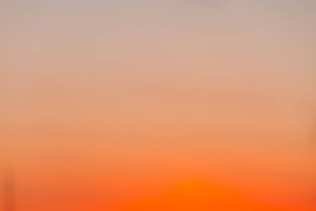 Abstract gradient from grey to orange. Beautiful cloudscape background