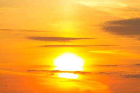 Sunset or sunrise. Warm orange sunlight Archivio Fotografico