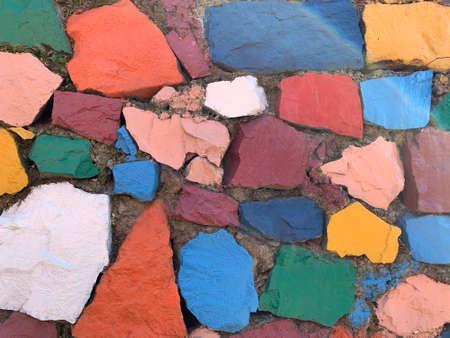 Colorful stones. use as a background Archivio Fotografico