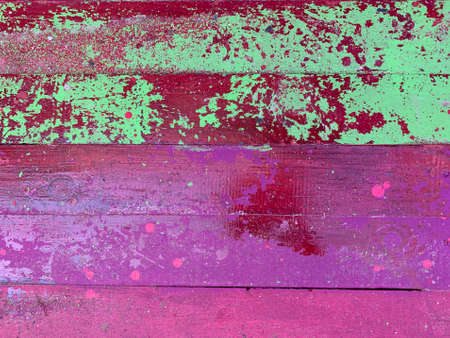 Colorful wooden backround. Pink and red strips Archivio Fotografico