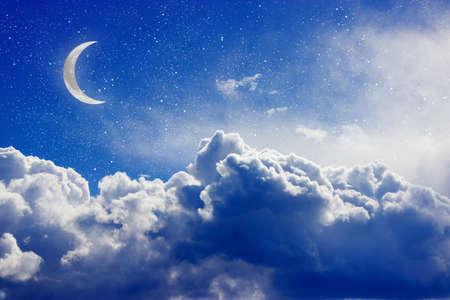 Fantasy night cloudscape. Toned image