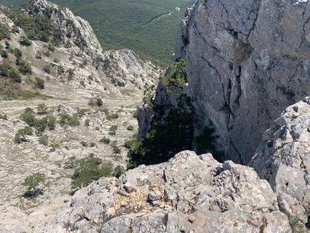 Beautiful rocky mountains in Crimea
