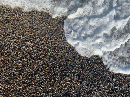 Close up of wave. Stone beach. View from above 版權商用圖片