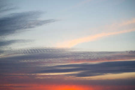 Beautiful clouds in the sky. Sunset or sunrise