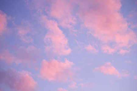 Beautiful pink clouds in the sky