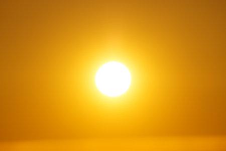 Golden colored blurred image of sun Zdjęcie Seryjne