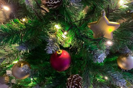 Christmas tree decoration. Close up Zdjęcie Seryjne