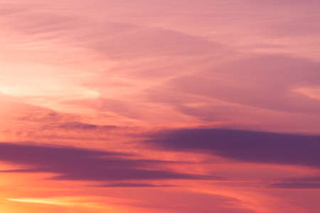 Beautiful Vibrant Sunset Sky In Pinkish Color