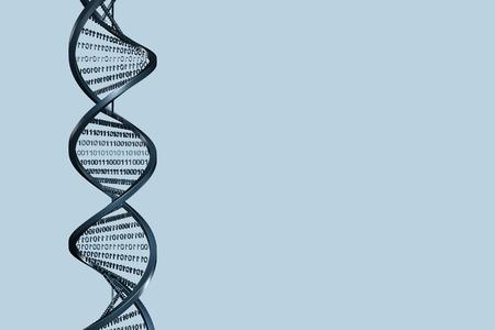 spirale dna: Helix 3d con codice binario