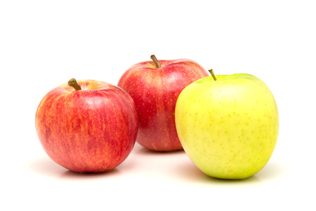 whote: Apples isolated on whote Stock Photo