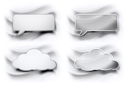 speech bubbles cloud Stock Photo - 21463300
