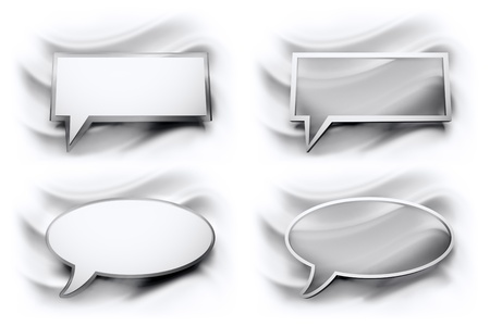 glossy speech bubble the two formats Stock Photo - 21463302