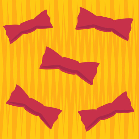 flying butterflies or candy on orange background