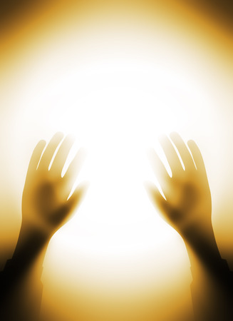 The light of knowledge and religion Stock Photo