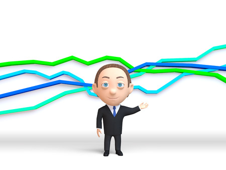 People on the background of graph statistics Stock Photo