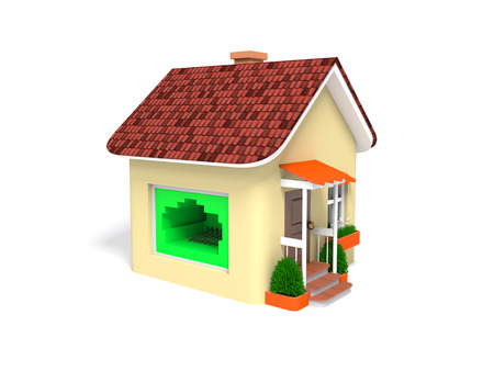 house is connected to the internet isolated on white background