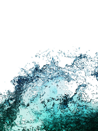 Water splashes collection isolated on a white background
