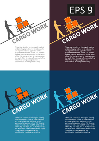 loading dock: Vector delivery of cargo global transportation concept illustration collection