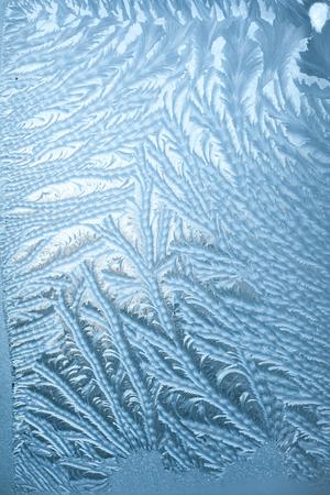 Winter Frosty patterns on the cold window Stock fotó
