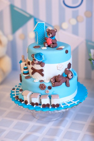 Kuchen für Geburtstagsfeier . Ein Jahr Standard-Bild - 94697170