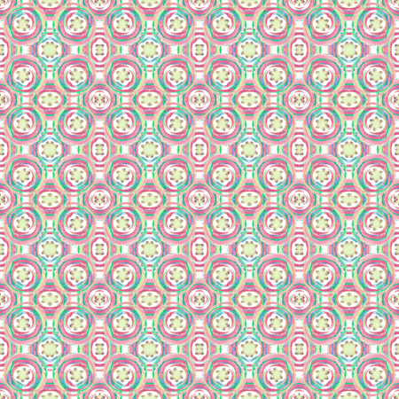 Pretty seamless colorful ethnic pattern, generated on a base of hand drawing watercolor circles. Unusual shapes. Fabric design. Can used for wallpaper, wrapping paper or cover.