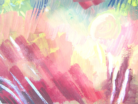 gouache: Abstract brush painting background. Childrens gouache drawing.