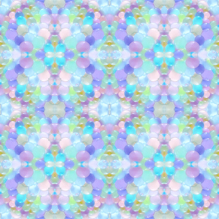 chaotically: Abstract seamless pattern. Background with small transparent colored balls arranged chaotically.