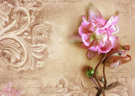 Détails architecturaux. Mur antique en style grunge avec méandre, chapiteaux, frises. Personnages Art déco gravés dans la pierre pour décorer un bâtiment en façade. Fragment de relief orné de fleurs.