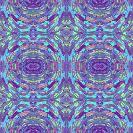 Small pattern with short hand drawn strokes. Seamless kaleidoscopic texture in impressionism style for web, print, fabric, textile, website, invitation card background, fashion or your design.