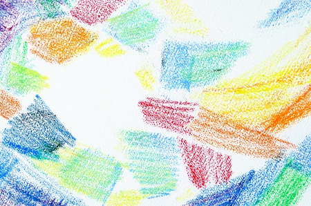 priming brush: Grunge texture of pastel strokes. Crayons abstract grunge background. Frame design element. Blank for business cards with hand drawing textures. Pencil design elements. Stock Photo