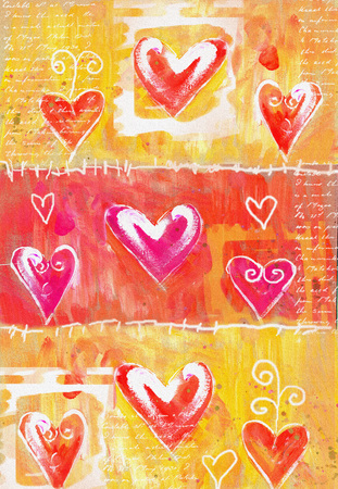 grunge heart: Concept painting heart valentines card. Valentine background. Hand drawn. Grunge heart. Love heart design. Poster.