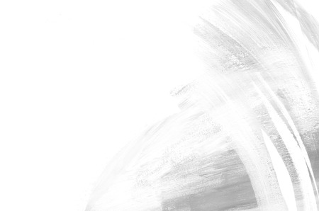 Abstract white and gray background painting. Grunge background. Brushstrokes of paint. Modern art. Contemporary art.