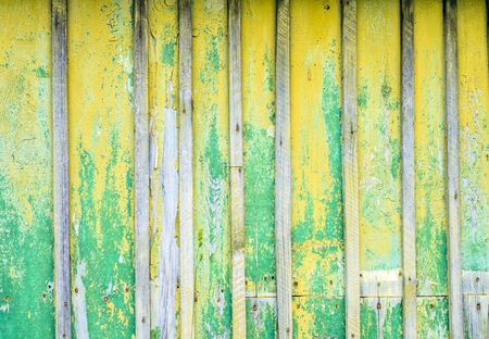 Yellow painted wood texture background. Shabby chic style. Old rural wooden wall, detailed plank photo texture.