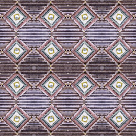 Carved wooden antique texture .Ethnic background. Ukrainian architecture. A seamless pattern.