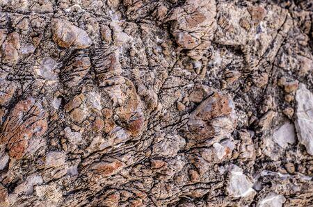 Color photo of stone rock texture. Close-up.. Stok Fotoğraf