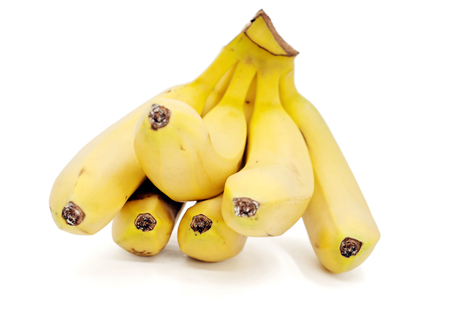 banana skin: bananas isolated on the white background