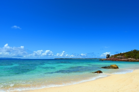 The beautiful sea and summer sky of Okinawa