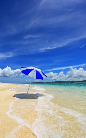 blandness: Beautiful beach and summer sky  Stock Photo