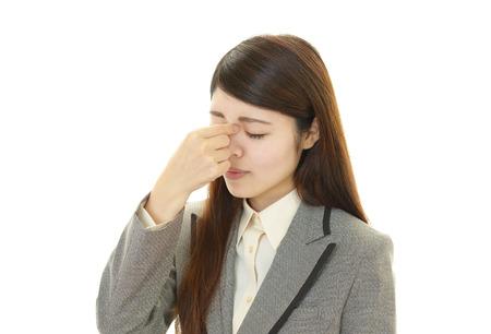 eyestrain: woman with eyestrain