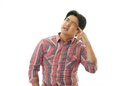 Man having a headache photo