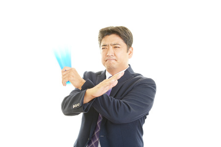 spectating: Disappointed man Stock Photo