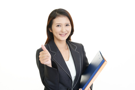 showed: Business woman showed good sign