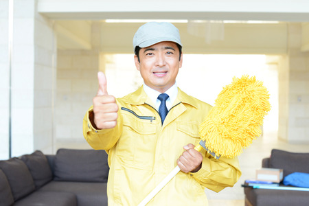 Men of cleaning suppliers photo