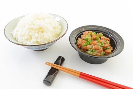 日本料理発酵豆と上昇 写真素材 - 33596730