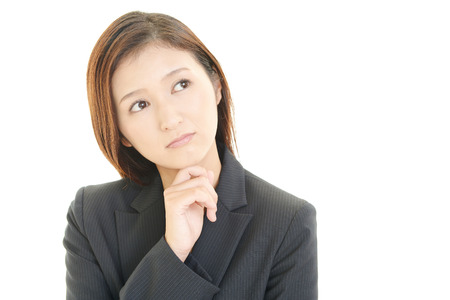 Women dissatisfied expression Stock Photo