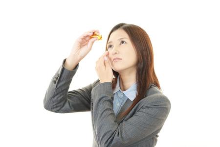 eyestrain: The woman with eyestrain