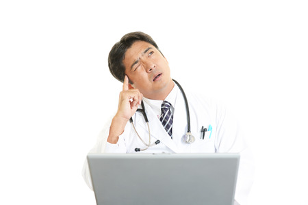 Tired doctor photo