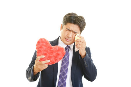 heartbreak issues: Men who have a broken heart Stock Photo