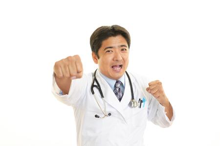 wnętrzności: Guts pose of doctor Zdjęcie Seryjne