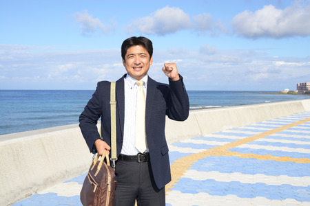 guts: Guts pose of businessman